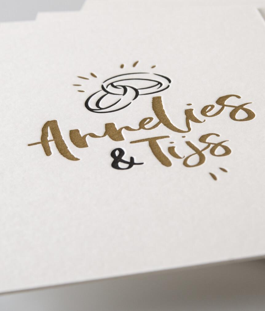 Trouwkaart Annelies & Tijs
