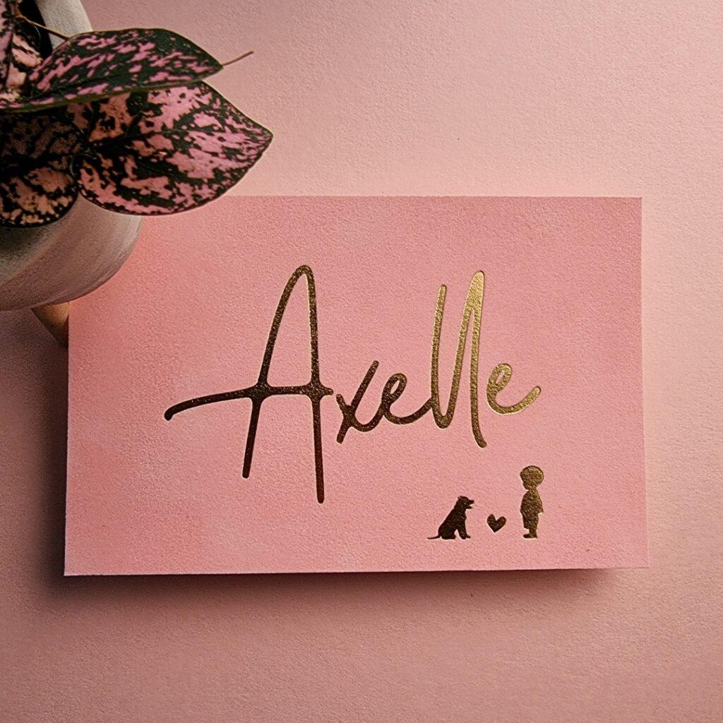Axelle - Velours geboortekaart